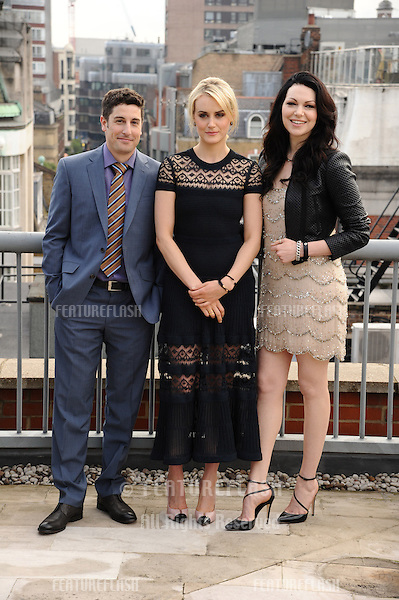 Jason Biggs, Taylor Schilling and Laura Prepon<br /> at the &quot;Orange is the New Black&quot; photocall, Soho Hotel, London. 29/05/2014 Picture by: Steve Vas / Featureflash