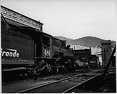 D&amp;RGW K36's #481 and #482 next to Salida shops.<br /> D&amp;RGW  Salida, CO  1955