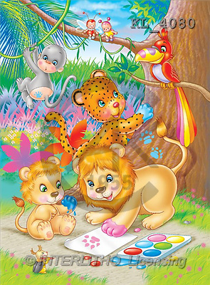 Interlitho, Lorella, CUTE ANIMALS, paintings, jungle animals, paint(KL4080,#AC#) illustrations, pinturas ,everyday