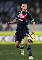 Calcio, Serie A: Lazio vs Napoli. Roma, Stadio Olimpico, 9 febbraio 2013..Napoli midfielder Omar El Kaddouri, of Belgium, in actionduring the Italian serie A football match between Lazio and Napoli at Rome's Olympic stadium, 9 February 2013..UPDATE IMAGES PRESS/Isabella Bonotto