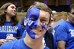 30 October 2015: One of the Cameron Crazies, Duke's fans. The Duke University Blue Devils hosted the Florida Southern College Moccasins at Cameron Indoor Stadium in Durham, North Carolina in a 2015-16 NCAA Men's Basketball Exhibition game. Duke won the game 112-68.