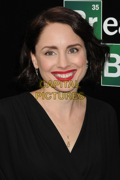 Laura Fraser<br /> &quot;Breaking Bad&quot; Final Episodes Los Angeles Premiere Screening held at Sony Pictures Studios, Culver City, California, USA, 24th July 2013.<br /> portrait headshot black red lipstick makeup smiling <br /> CAP/ADM/BP<br /> &copy;Byron Purvis/AdMedia/Capital Pictures