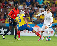 Rio de Janeiro, Brazil - June 25, 2014: France and Ecuador played to a 0-0 draw in the teams' final Group E match at Maracanã Stadium.