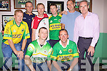 Fans getting ready for the match in The New Kindom Bar on Sunday.B L-R, Dan Halpin, John Lade, Garry Mehan, John Quinn, John Stack, Dave Caplice. F L-R, Aidrian Grimmes, Declan Murphy.