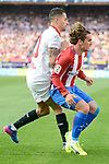"Atletico de Madrid's Antoine Griezmann and Sevilla's Victor ""Vitolo"" Machin during La Liga match between Atletico de Madrid and Sevilla CF at Vicente Calderon Stadium in Madrid, Spain. March 19, 2017. (ALTERPHOTOS/BorjaB.Hojas)"