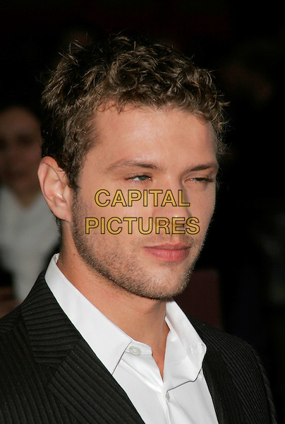 "RYAN PHILLIPPE .Attends the screening of ""Franklyn"" at The Times BFI London Film Festival at Odeon West End, London, England, October 16, 2008..portrait headshot stubble white shirt collar funny eyes .CAP/AH.©Adam Houghton/Capital Pictures"