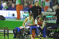 SCHAATSEN: HEERENVEEN: 27-12-2013, IJsstadion Thialf, KNSB Kwalificatie Toernooi (KKT), 3000m, Jorien ter Mors, Jeroen Otter (trainer/coach), ©foto Martin de Jong