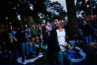 "NEW YORK - JUNE 14: People dance to the music of the Neville Brothers during their concert to kick off the summer events of  ""Celebrate Brooklyn"" on June 14, 2007, in Prospect Park, Brooklyn, NY. (Photo by Landon Nordeman)"