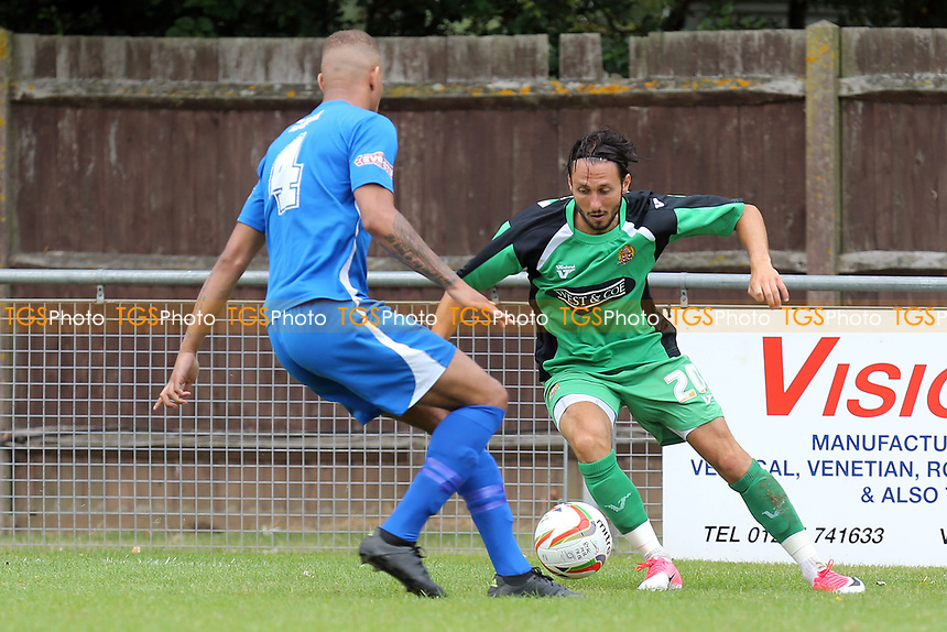 Nick Wheeler of Dagenham  during Bedford Town vs Dagenham & Redbridge, Friendly Match Football at The Eyrie on 15th July 2017