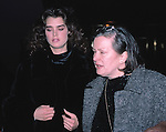 Brooke Shields photographed with mother Teri Shields in New York City. 1985.