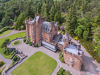 BNPS.co.uk (01202 558833)<br /> Pic: BellIngram/BNPS<br /> <br /> A magnificient Scottish castle which comes with its own two islands is on the market for £3.75million.<br /> <br /> Glenborrodale Castle is situated on the southern shore of the picturesque Ardnamurchan Peninsula in the remote Highlands. <br /> <br /> The baronial mansion dates from 1902 and is built from distinctive red Dumfriesshire sandstone.<br /> <br /> It boasts 133 acres of land taking in the idyllic uninhabited isles of Risga and Eileam an Feidh.<br /> <br /> The larger of the two, Risga, spans 30 acres and is in the centre of Loch Sunart, 800 yards from the north shore