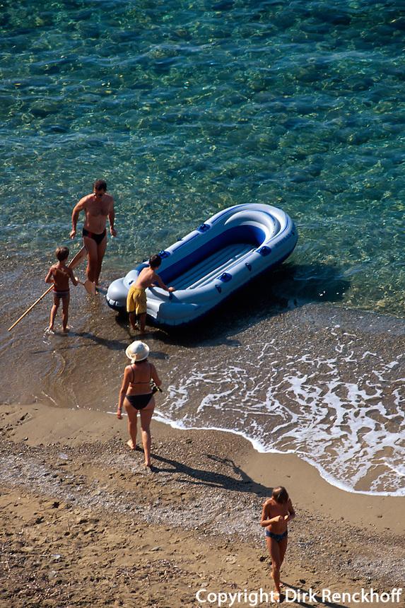 Italien, Elba, am Strand von Morcone