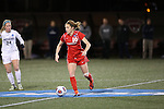 SALEM, VA - DECEMBER 3:Katie Chandler (16) moves the ball upfield during theDivision III Women's Soccer Championship held at Kerr Stadium on December 3, 2016 in Salem, Virginia. Washington St Louis defeated Messiah 5-4 in PKs for the national title. (Photo by Kelsey Grant/NCAA Photos)