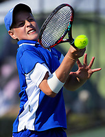 Action from the AIMS tennis at Bay Park in Mount Maunganui, New Zealand on Thursday, 13 September 2018. Photo: Dave Lintott / lintottphoto.co.nz