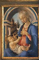 Europe/France/Provence-Alpes-Côte- d'Azur/84/Vaucluse/Avignon: Petit Palais-Musée- la Vierge et l'Enfant- tableau de Botticelli vers 1466