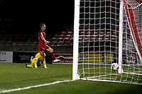 Danny Johnson of Orient scores the third goal for his team and celebrates during Leyton Orient vs Plymouth Argyle, Caraboa Cup Football at The Breyer Group Stadium on 15th September 2020