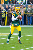 Green Bay Packers quarterback Brett Hundley (7) during a National Football League game against the Tampa Bay Buccaneers on December 2nd, 2017 at Lambeau Field in Green Bay, Wisconsin. Green Bay defeated Tampa Bay 26-20. (Brad Krause/Krause Sports Photography)
