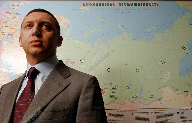 Oleg Deripaska, founder and CEO of Basic Element, and one of Russia's richest men, in his offices in Moscow, Russia, June 22, 2006