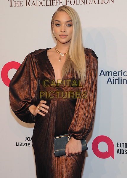NEW YORK, NY - NOVEMBER 02:  Jasmine Sanders attend 15th Annual Elton John AIDS Foundation An Enduring Vision Benefit at Cipriani Wall Street on November 2, 2016 in New York City.<br /> CAP/MPI/JP<br /> &copy;JP/MPI/Capital Pictures