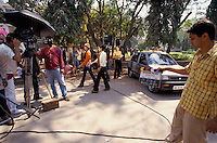 A shooting set of a Bollywood film in Mumbai India