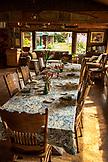 USA, Alaska, Homer, China Poot Bay, Kachemak Bay, view of the dining room at Kachemak Bay Wilderness Lodge