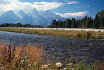 Snake River and Teton Range, Grand Teton National Park, Wyoming, USA