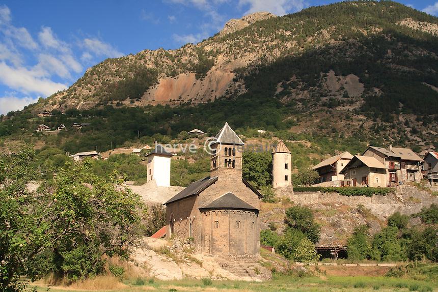 France, Hautes-Alpes (05), L'Argentière-la-Bessée, chapelle Saint-Jean // France, Hautes-Alpes, L'Argentiere la Bessee, chapel St. Jean