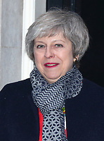 Prime Minister Theresa May on the steps of 10 Downing Street, London on January 10th 2018<br /> CAP/ROS<br /> &copy;ROS/Capital Pictures
