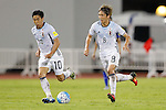 (L-R) Shinji Kagawa (JPN), Genki Haraguchi (JPN), SEPTEMBER 6, 2016 - Football / Soccer :<br /> FIFA World Cup Russia 2018 Asian Qualifier<br /> Final Round Group B match<br /> between Thailand 0-2 Japan<br /> at Rajamangala National Stadium, Bangkok, Thailand.<br /> (Photo by Yusuke Nakanishi/AFLO SPORT)