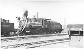 3/4 fireman's-side view of C&amp;S 36 steaming in a yard.<br /> C&amp;S