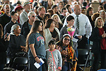 Friends and family members looks for their graduates during the 2018 Western Nevada College Commencement ceremony, in Carson City, Nev., on Monday, May 21, 2018. <br /> Photo by Cathleen Allison/Nevada Momentum