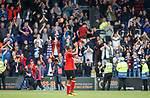 Bruno Alves applauds the travelling fans at full time