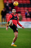 Lincoln City's Joan Luque during the pre-match warm-up<br /> <br /> Photographer Chris Vaughan/CameraSport<br /> <br /> The EFL Sky Bet League Two - Lincoln City v Port Vale - Tuesday 1st January 2019 - Sincil Bank - Lincoln<br /> <br /> World Copyright &copy; 2019 CameraSport. All rights reserved. 43 Linden Ave. Countesthorpe. Leicester. England. LE8 5PG - Tel: +44 (0) 116 277 4147 - admin@camerasport.com - www.camerasport.com