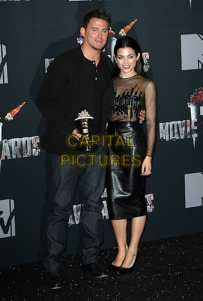 13 April 2014 - Los Angeles, California - Channing Tatum, Jenna Dewan. 2014 MTV Movie Awards held at Nokia Theatre L.A. Live. <br /> CAP/ADM<br /> &copy;AdMedia/Capital Pictures