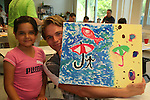Van Hansis and Sierra show off painting at the 11th Annual SoapFest - Painting Party to benefit Marco Island YMCA, theatre program & Art League of Marco Island on May 2, 2009 on Marco Island, FLA. (Photo by Sue Coflin/Max Photos)
