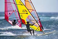 Back lit windsurfers, Hookipa, Maui