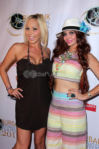 BURBANK, CA - SEPTEMBER 11: Mary Carey, Phoebe Price at the 4Got10 Premiere at the Burbank International Film Festival at the AMC Theater Burbank, California on September 11, 2015. Credit: David Edwards/MediaPunch
