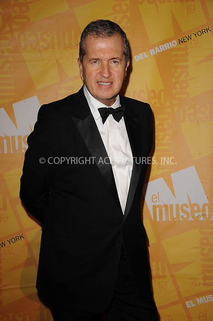 WWW.ACEPIXS.COM . . . . . .May 26, 2011...New York City...Mario Testino attends the El Museo Del Barrio Gala at Cipriani 42nd Street on May 26, 2011 in New York City.....Please byline: KRISTIN CALLAHAN - ACEPIXS.COM.. . . . . . ..Ace Pictures, Inc: ..tel: (212) 243 8787 or (646) 769 0430..e-mail: info@acepixs.com..web: http://www.acepixs.com .