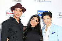 LOS ANGELES - JUN 11: Julio Macias, Jessica Marie Garcia, Diego Tinoco at The Actors Fund's 22nd Annual Tony Awards Viewing Party at the Skirball Cultural Center on June 10, 2018 in Los Angeles, CA