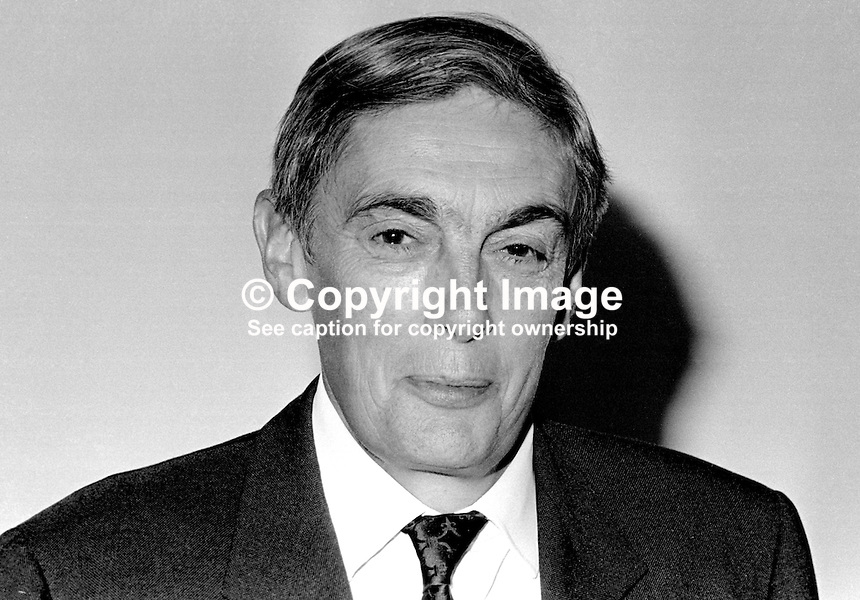 Sir Leslie Scarman, chairman, Scarman Tribunal, which was set up to  investigate civil disorder in N Ireland in August 1969. Taken February 1970. 197002000065b<br />