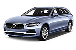 2019 Volvo V90 Momentum 5 Door Wagon angular front stock photos of front three quarter view