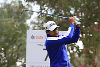 Piya Swangarunporn (THA) on the 7th tee during Round 1 of the UBS Hong Kong Open, at Hong Kong golf club, Fanling, Hong Kong. 23/11/2017<br /> Picture: Golffile | Thos Caffrey<br /> <br /> <br /> All photo usage must carry mandatory copyright credit     (&copy; Golffile | Thos Caffrey)