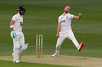 Jamie Porter of Essex in bowling action during Kent CCC vs Essex CCC, Friendly Match Cricket at The Spitfire Ground on 27th July 2020