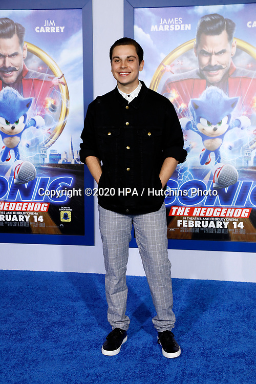 "LOS ANGELES - FEB 12:  Jake T Austin at the ""Sonic The Hedgehog"" Special Screening at the Village Theater on February 12, 2020 in Westwood, CA"