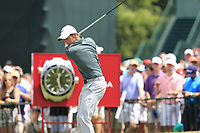 Rory McIlroy (NIR) tees off the 1st tee to start Saturday's Round 3 of the 2017 PGA Championship held at Quail Hollow Golf Club, Charlotte, North Carolina, USA. 12th August 2017.<br /> Picture: Eoin Clarke | Golffile<br /> <br /> <br /> All photos usage must carry mandatory copyright credit (&copy; Golffile | Eoin Clarke)
