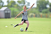 Houston, TX - Friday Oct. 07, 2016: Victoria Huster during training prior to the National Women's Soccer League (NWSL) Championship match between the Washington Spirit and the Western New York Flash at Houston Sports Park.