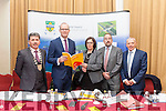 Cathaoirleach of Kerry County Council Michael O'Shea, Minister for Housing, Planning, Community and Local Government Simon Coveney, Moira Murrell (CEO Kerry County Council), Martin O'Donoghue (Director of Services KCC) and Mick Scanlon (Director of Services KCC), at the Roadshow on Housing Crisis in the Manor West Hotel, Tralee on Monday afternoon.
