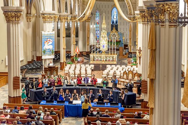 April 21, 2018; Handbell Choir concert (Photo by Matt Cashore/University of Notre Dame)