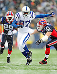 3 January 2010: Indianapolis Colts' wide receiver Reggie Wayne in action against the Buffalo Bills on a cold, snowy, final game of the season at Ralph Wilson Stadium in Orchard Park, New York. The Bills defeated the Colts 30-7. Mandatory Credit: Ed Wolfstein Photo