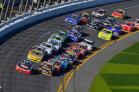 19-20 February, 2016, Daytona Beach, Florida USA<br /> Austin Dillon and Brendan Gaughan lead the field.<br /> ©2016, F. Peirce Williams